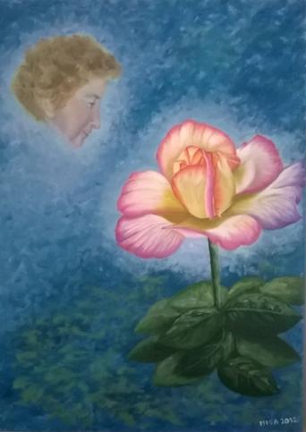 Elisabetta Mondini Ricordo di mamma Rosetta 70x50 olio su tela 2014