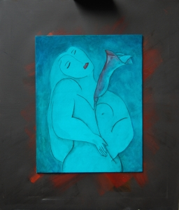 Flavia Noseda Sogno 70x60 acrilico su tela 2014