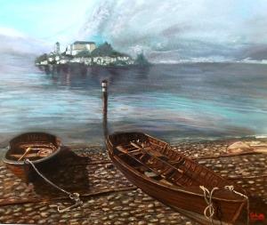 Giannina Gobatto 50x60 Amare in Un monastero di clausura - Orta San Giulio olio su tela 2015