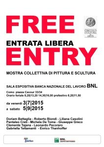 150704 locandina FREE ENTRY