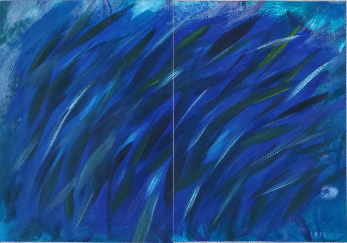 151121ab Algae Acrylic on paper 42x60