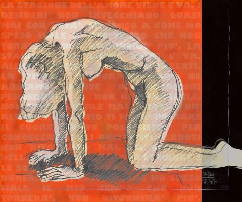 110419 La stagione dell'amore - positivo 100x120 mixed media on canvas