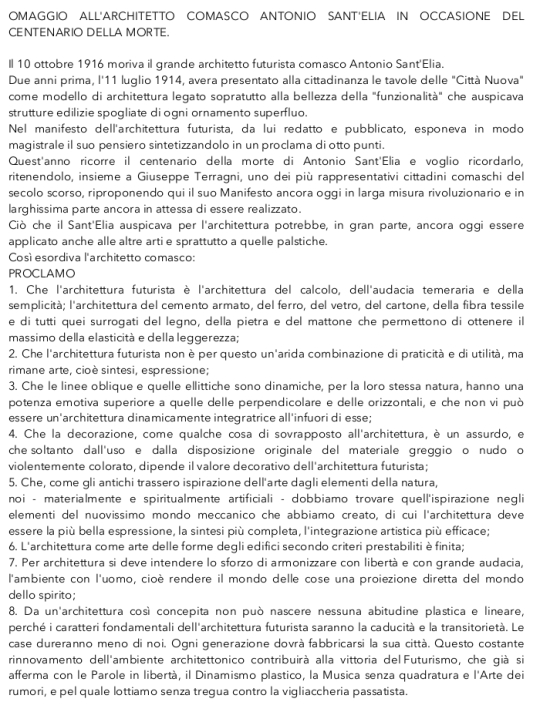Omaggi ad Antonio SantElia